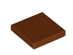 LEGO alkatrész - Reddish Brown Tile 2 x 2 with Groove