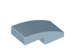 LEGO alkatrész - Sand Blue Slope, Curved 2 x 1 No Studs