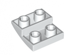 LEGO alkatrész - White Slope, Curved 2 x 2 Inverted