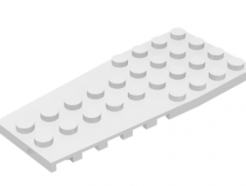 LEGO alkatrész - White Wedge, Plate 4 x 9 with Stud Notches