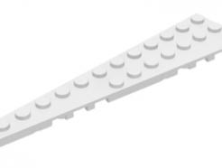 LEGO alkatrész - White Wedge, Plate 12 x 3 Left