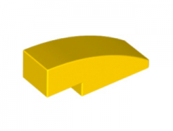 LEGO alkatrész - Yellow Slope, Curved 3 x 1 No Studs