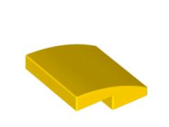 LEGO alkatrész - Yellow Slope, Curved 2 x 2 No Studs