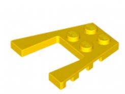 LEGO alkatrész - Yellow Wedge, Plate 4 x 4