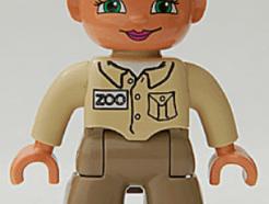 LEGO DUPLO figura - Állatkerti gondozó