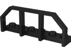 LEGO alkatrész - Black Plate, Modified 1 x 6 with Train Wagon End