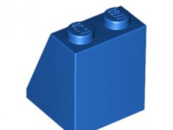 LEGO alkatrész - Blue Slope 65 2 x 2 x 2 with Bottom Tube