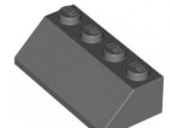 LEGO alkatrész - Dark Bluish Gray Slope 45 2 x 4