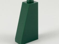 LEGO alkatrész - Dark Green Slope 75 2 x 1 x 3 - Hollow Stud