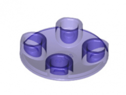 LEGO alkatrész - Trans-Purple Plate, Round 2 x 2 with Rounded Bottom (Boat Stud)