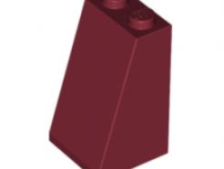 LEGO alkatrész - Dark Red Slope 75 2 x 2 x 3 - Solid Studs