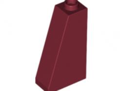 LEGO alkatrész - Dark Red Slope 75 2 x 1 x 3 - Hollow Stud
