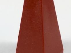 LEGO alkatrész - Dark Red Slope 75 2 x 2 x 3 Double Convex