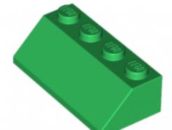 LEGO alkatrész - Green Slope 45 2 x 4