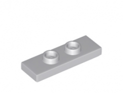 LEGO alkatrész - Light Bluish Gray Plate, Modified 1 x 3 with 2 Studs (Double Jumper)