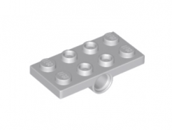 LEGO alkatrész - Light Bluish Gray Plate, Modified 2 x 4 with Pin Holes