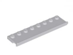 LEGO alkatrész - Light Bluish Gray Plate, Modified 2 x 8 with Door Rail