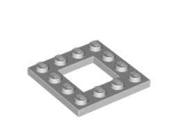 LEGO alkatrész - Light Bluish Gray Plate, Modified 4 x 4 with 2 x 2 Cutout