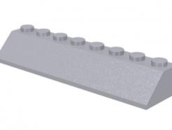 LEGO alkatrész - Light Bluish Gray Slope 45 2 x 8