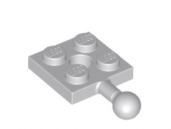 LEGO alkatrész - Light Bluish Gray Plate, Modified 2 x 2 with Towball and Hole
