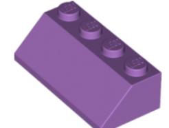 LEGO alkatrész - Medium Lavender Slope 45 2 x 4