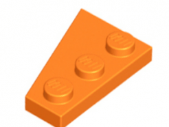 LEGO alkatrész - Orange Wedge, Plate 3 x 2 Right