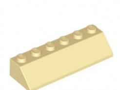 LEGO alkatrész - Tan Slope 45 2 x 6
