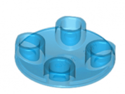 LEGO alkatrész - Trans-Dark Blue Plate, Round 2 x 2 with Rounded Bottom (Boat Stud)