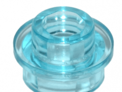 LEGO alkatrész - Trans-Light Blue Plate, Round 1 x 1 with Open Stud
