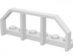 LEGO alkatrész - White Plate, Modified 1 x 6 with Train Wagon End