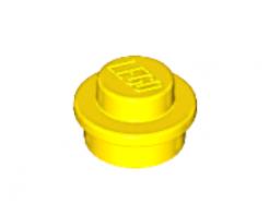 LEGO alkatrész - Yellow Plate, Round 1 x 1 Straight Side