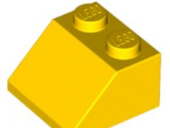 LEGO alkatrész - Yellow Slope 45 2 x 2