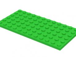 LEGO alkatrész - Bright Green Plate 6 x 12