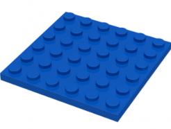 LEGO alkatrész - Blue Plate 6 x 6