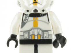 LEGO minifigura - Clone Trooper Episode 3, Yellow Markings, No Pauldron, 'Star Corps Trooper'