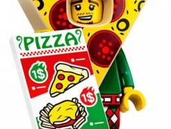 LEGO gyűjthető minifigura col19-10 - Pizza costume guy