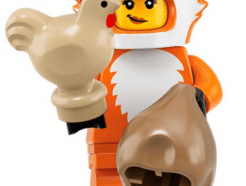 LEGO gyűjthető minifigura col19-14 - Fox costume girl
