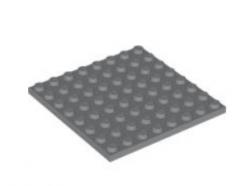 LEGO alkatrész - Dark Bluish Gray Plate 8 x 8