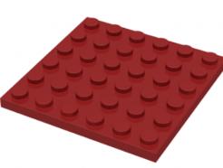 LEGO alkatrész - Dark Red Plate 6 x 6