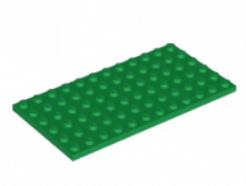 LEGO alkatrész - Green Plate 6 x 12