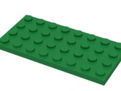 LEGO alkatrész - Green Plate 4 x 8