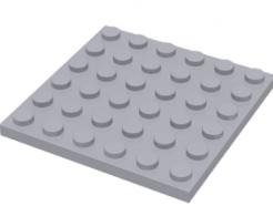 LEGO alkatrész - Light Bluish Gray Plate 6 x 6