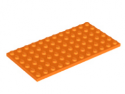 LEGO alkatrész - Orange Plate 6 x 12