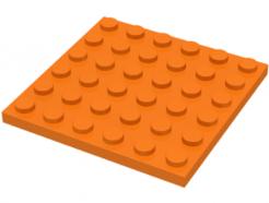 LEGO alkatrész - Orange Plate 6 x 6