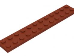 LEGO alkatrész - Reddish Brown Plate 2 x 12
