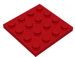 LEGO alkatrész - Red Plate 4 x 4