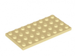 LEGO alkatrész - Tan Plate 4 x 8
