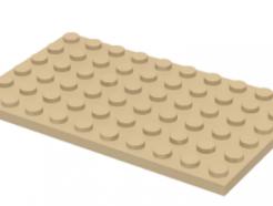 LEGO alkatrész - Tan Plate 6 x 10