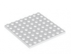 LEGO alkatrész - White Plate 8 x 8