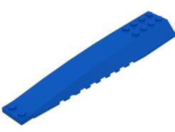 LEGO alkatrész - Blue Wedge 16 x 4 Triple Curved